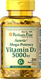 Cheap Puritan's Pride Vitamin D3 5000 IU Soft Gels, 0.3 Ounce