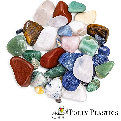 Polly Plastics Rock Tumbler Media Grit Refill, 2 lb Medium 180/220 Silicone Carbide Grit, Stage 2 for Tumbling Stones (2 Pack) by Polly Plastics (Image #2)