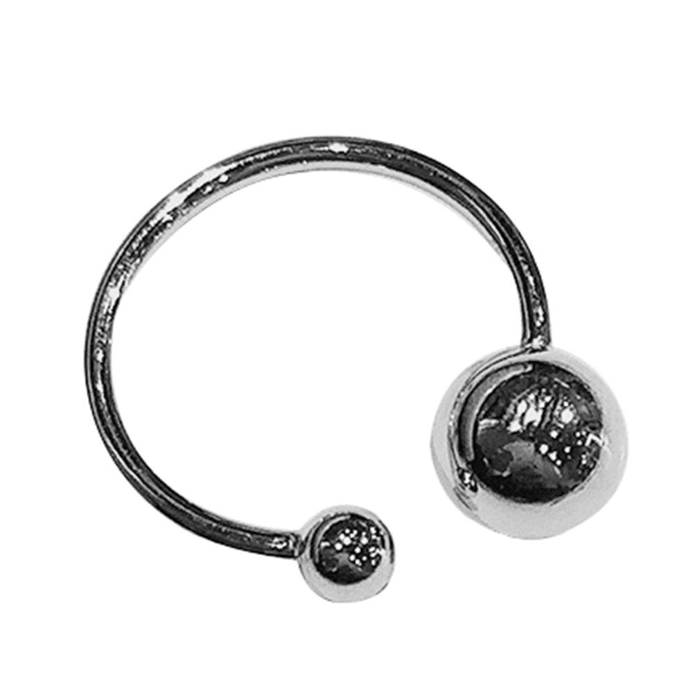 Samtlan Vintage Bohemian intrecciata/palla coda 925 sterlina anello d'argento per le donne ragazze (16, 9 mm)