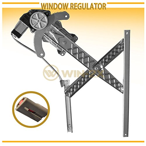 WIN-2X New 1pc Front Driver (Left) Side Power Window Regulator & Motor Assembly Fit 97-02 Ford Expedition 98-02 Lincoln Navigator 01-01.4 Ford F150 Crew Cab With 4 Full Size Doors ()