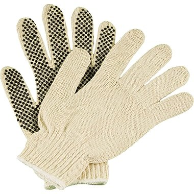 Dotted Gloves Pvc Work - Anchor ANR6705 Work Gloves, PVC 1-Sided Dotted, Natural White (Pack of 12 Pairs)
