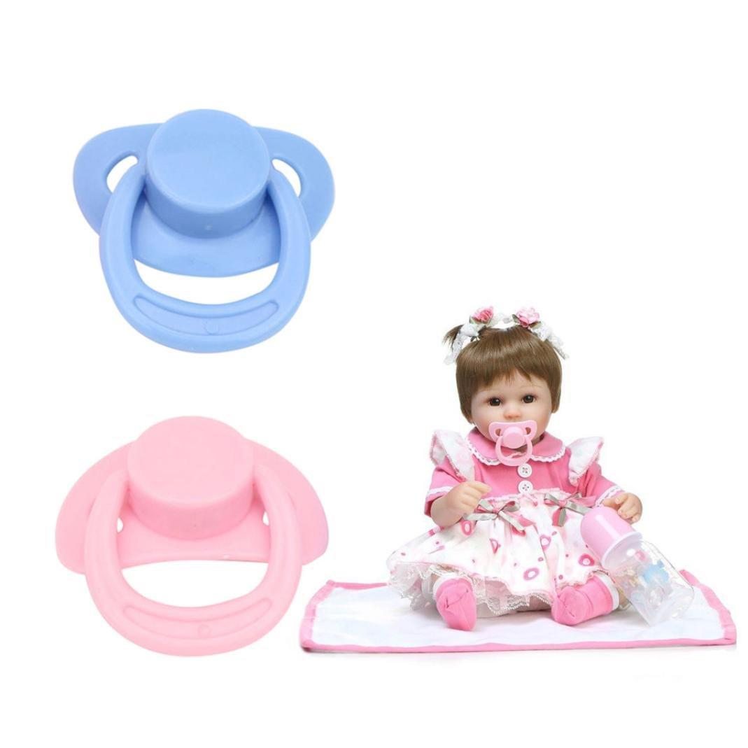 Moonuy Tétine magnétique Rose Sucette 1PC pour les poupées rebelles de bébé avec les accessoires magnétiques internes avec les accessoires magnétiques Produits pour bébé Belle Réaliste B