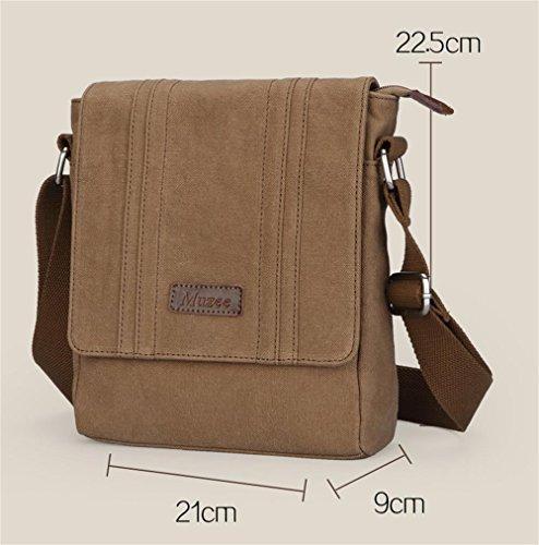 DELLT-Der neue Mann Tasche lässig Leinwand Umhängetasche Umhängetasche braun Tasche Vertikalschnitt Männer koreanische Version