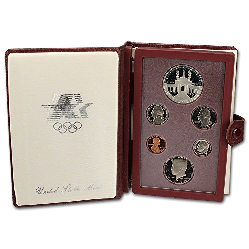 - 1984 US Mint Prestige Proof Set Original Government Packaging with Silver Olympic Dollar Proof