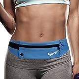 CyberDyer Running Belt Waist Pack - Adjustable Fanny Pouch for Runners Hands Free Workout - iPhone 6/7 Plus Hiking Gear Marathon for Men and Women (Blue)