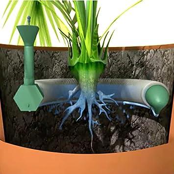 Sistema de riego de plantas en macetas que aporta a la