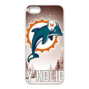 Miami Dolphins iPhone 5 5s Cell Phone Case White persent zhm004_8511300