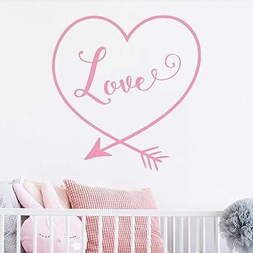 Corazón Flecha Tatuajes de pared Amor creativo Vinilo Murales de ...