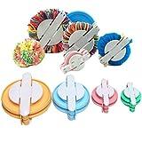Arts & Crafts : SUMAJU 4 Size Pom-pom Maker for Fluff Ball Weaver Needle DIY Wool Knitting Craft Tool Set