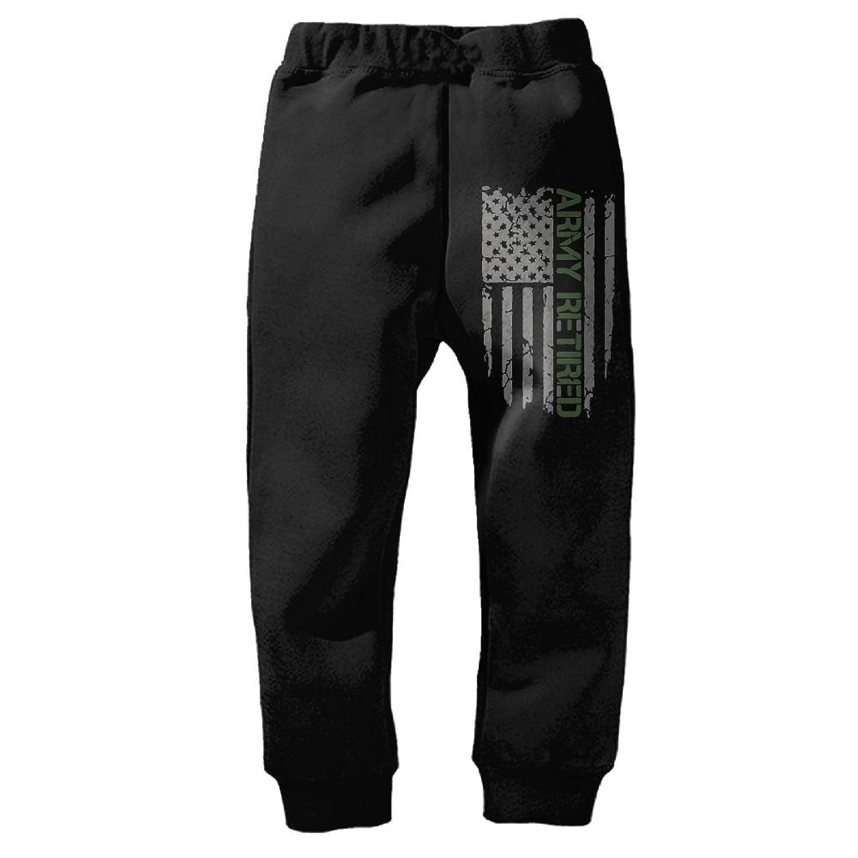137b81429 YE9WU Army Retired Flag Unisex Kids Toddlers Sweatpants Long Pants ...
