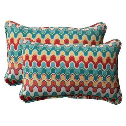 Fine Amazon Com Set Of 2 Moroccan Red Turquoise Outdoor Creativecarmelina Interior Chair Design Creativecarmelinacom