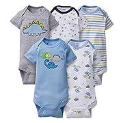 Gerber Onesies Newborn Baby Boys Dinosaur Outfits 5 Pack
