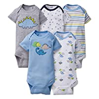 Gerber Onesies 3-6 Months Baby Boys Dinosaur Outfits 5 Pack