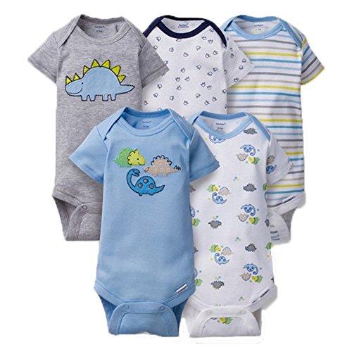 gerber-unisex-baby-onesies-pack-of-5-6-9-months-dino