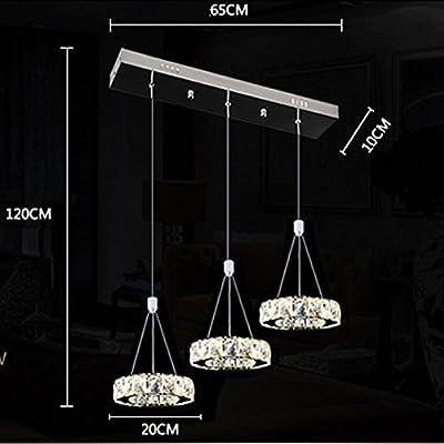27W 3-Ringe LED Pendelleuchte Modern Luxus Höhenverstellbar ...