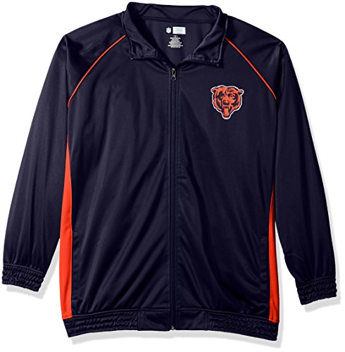 - NFL Chicago Bears Women POLY TRICOT TRACK JACKET, NAVY/ORANGE, 3X