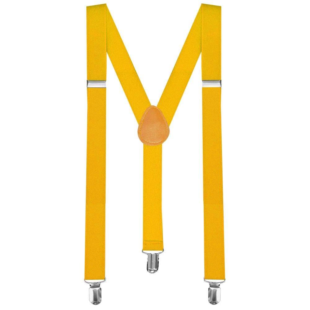Y-back bretella bretelle regolabili Pantaloni Bambino Uomo Donna completamente elastico giallo tumundo