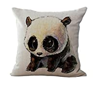 ME COO Cute Panda hug pillowcase plane printing the living room room car decorative cushion covers pillow covers 18 x 18Inches 1pcs