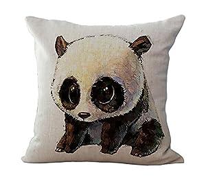 ME COO Cute Panda hug pillowcase plane printing the living room room car decorative cushion covers pillow covers 18 x 18Inches 1pcs