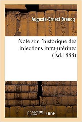 Livre gratuits Note sur l'historique des injections intra-utérines pdf epub