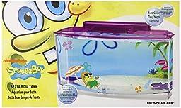 Penn Plax SpongeBob\'s Large Betta Aquarium Tank