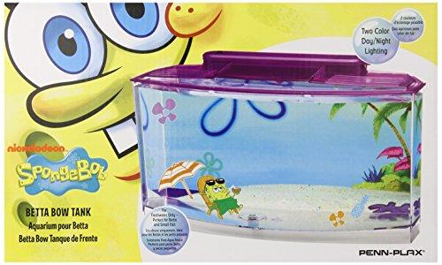 Penn Plax SpongeBob's Large Betta Aquarium - Fish Tank Kids