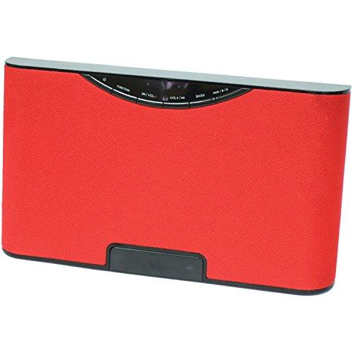 Sylvania Bluetooth Desktop Speaker Red