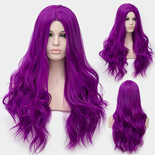 (Similar Cosplay Long Wavy Full Synthetic Wigs Fluffy Hair Wig with Cap Halloween)