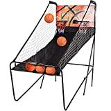 Ancheer Electronic Basketball Hoop Arcade Game 8-in-1, 2-Player, 5 Balls Indoor Sport Double Shot Electronic Game with Scoring Screen and Timer Family Kids