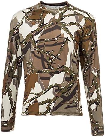 Predator Camo Mens Long Sleeve Performance Crew T-Shirt