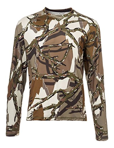 Predator Camo Men's Long Sleeve Performance Crew T-Shirt, Brown Deception, X-Large (Hat Camo Predator)