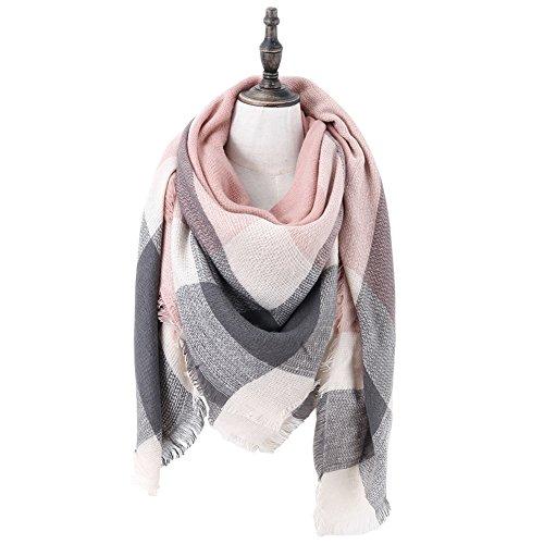 Womens Classic Plaid Tartan Grids Scarf Pashmina Blanket Winter Wraps Shawl