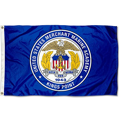 (College Flags and Banners Co. US Merchant Marine Mariners Flag)
