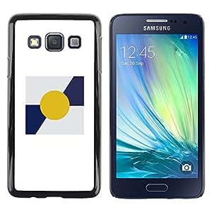 Be Good Phone Accessory // Dura Cáscara cubierta Protectora Caso Carcasa Funda de Protección para Samsung Galaxy A3 SM-A300 // Sun Minimalist Blue White Poster