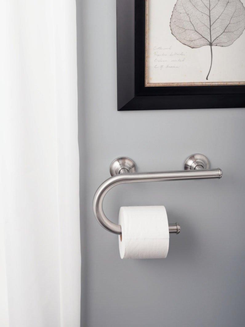 Amazon.com: Moen LR2352DBN Toilet Paper Holder with Grab Bar ...