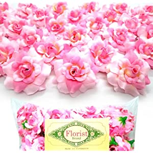"(100) Silk Two Tone Light Pink Roses Flower Head - 1.75"" - Artificial Flowers Heads Fabric Floral Supplies Wholesale Lot for Wedding Flowers Accessories Make Bridal Hair Clips Headbands Dress 9"