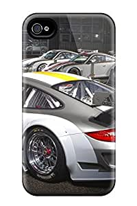 Excellent Iphone 4/4s Case Tpu Cover Back Skin Protector Porsche 911 Gt3 Rsr 2011