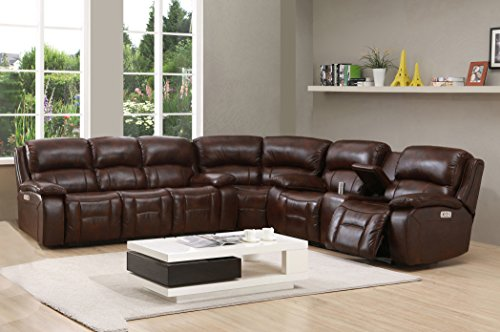 TOP 10 BEST LEATHER SECTIONAL SOFA WITH POWER RECLINER ...