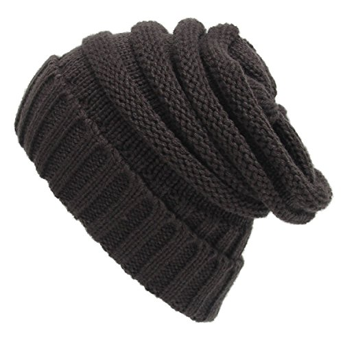 Spring fever Unisex Winter Slouch Thermal Fashion Cozy Stretch Baggy Beanie Hats New Gray