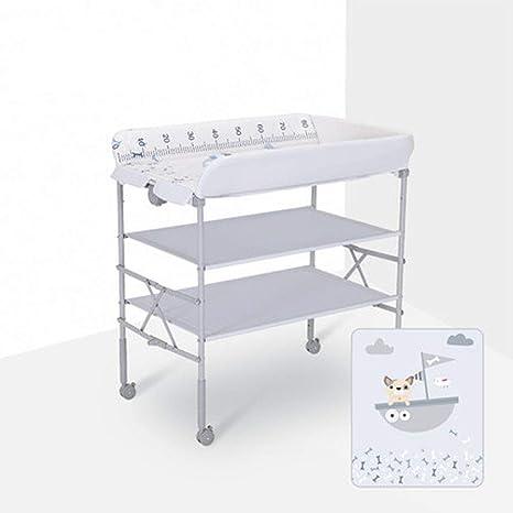 Mesa de pañales portátil Mesa de Cuidado para bebés Mesa de ...