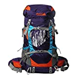 60L Adjustable Internal Frame Backpack Waterproof Trekking Bag of Rain Cover for Outdoor Hiking,Travel,Climbing,Camping & Mountaineering by Makino