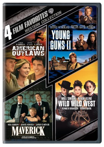 4 Film Favorites: Westerns (American Outlaws, Maverick, Wild Wild West, Young Guns 2) by
