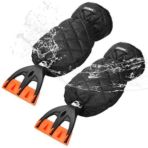 MATCC IJskrabber met handschoen auto ijskrabber binnen velours gevoerd nooit bevroren winter krassen ijskrabber…