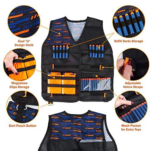 Kids Tactical Vest Kit for Nerf Guns 46 Pieces