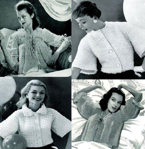 Viejo anticuado Vintage chaquetas a Crochet