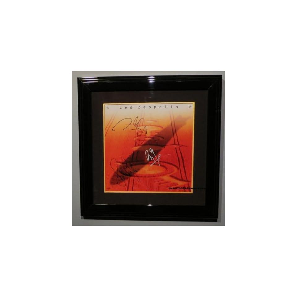Led Zeppelin Autographed Boxed Set Album Entertainment Collectibles