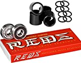 #9: Bones Super Reds Skateboard Bearings, 1 x 8 Pack w/Spacers and Washers