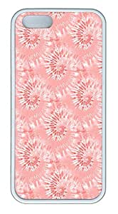 IMARTCASE iPhone 5S Case, Red Tie Dye Seamless Case for Apple iPhone 5S/5 TPU - White