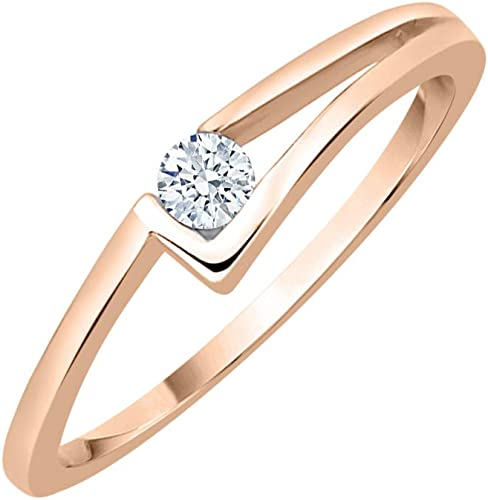 1//10 cttw, Diamond Wedding Band in 14K Yellow Gold Size-6.5 G-H,I2-I3