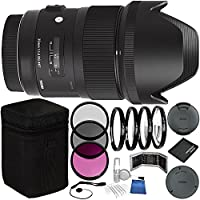 Sigma 35mm f/1.4 DG HSM Art Lens for Nikon DSLR Cameras Bundle with Manufacturer Accessories & Accessory Kit (23 Items)